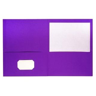 Neci Pocket Portfolio, Letter, Purple, Pack of 25