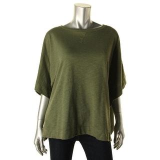 American Living Womens Modal Blend Side Slits Poncho Sweater - M