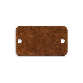 Vintaj Artisan Copper Blank 2 Hole Rectangle For Altered Art Crafts 40x23mm (1)