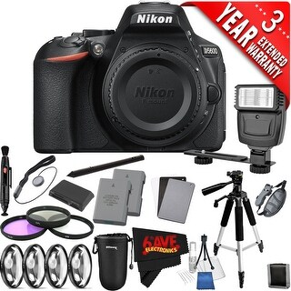 Nikon D5600 DSLR Camera International Version (No Warranty) Extra Battery & Accessories Bundle