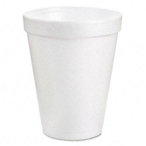 Dart 6J6 Drink Foam Cups- 6 oz.- White- 40 Bags of 25/Carton