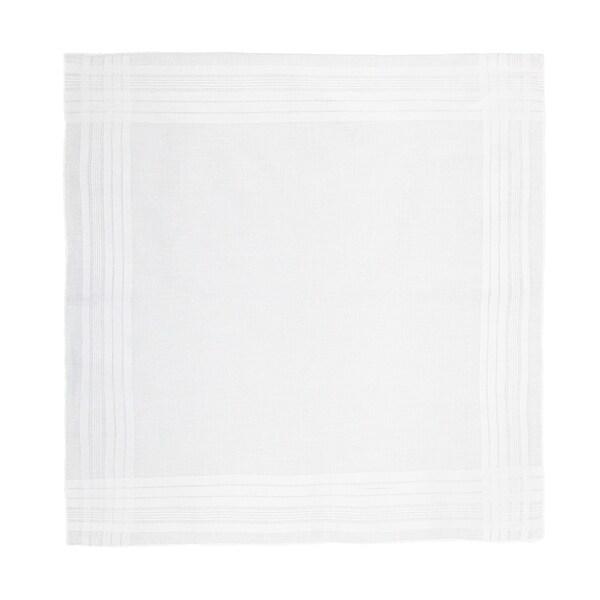 CTM® Men's Cotton Satin Banded Handkerchief