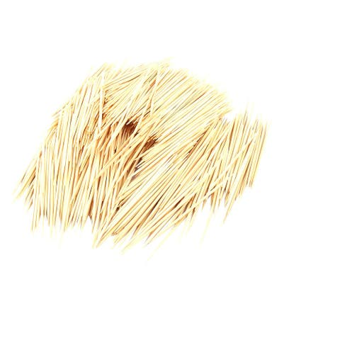 "Canteen Bamboo Teeth Scraps Washing Tool Toothpicks 500 Pcs - Wood Color - 2.6"" x 0.08""(L*D)"