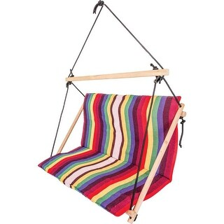 Club Fun Double-Wide Hanging Rope Chair