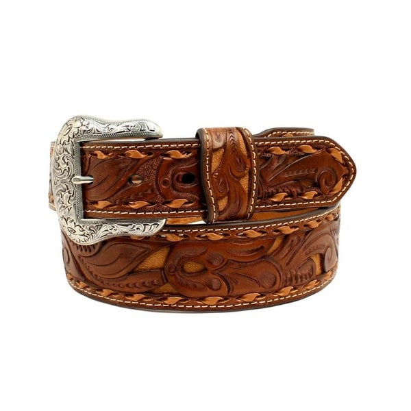 Nocona Western Belt Mens Leather Pierce Leather Strap