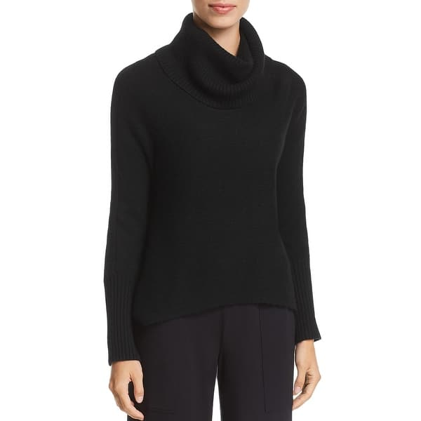 Eileen Fisher Womens Petites Wool Ribbed Sweater