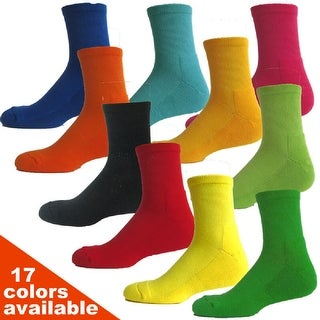 Couver Athletic Crew Cushioned Basketball Socks - 4 Pair Pack