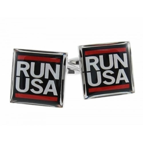 Run Usa Runner Marathon 10K 5K Half Marathon Cufflinks