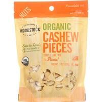Woodstock Organic Cashews - Pieces - Raw - Case of 8 - 7 oz.