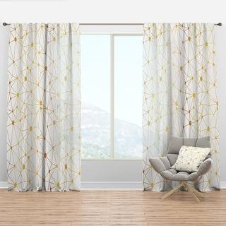 Link to Designart 'Golden Grid I' Mid-Century Modern Curtain Panel Similar Items in Window Treatments