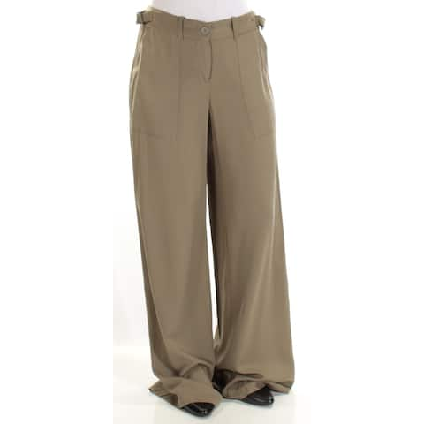 MAX STUDIO Womens Green Wear To Work Pants Size: 6