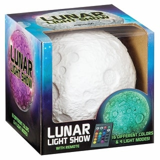 Lunar Light Show Color-Changing Moon-Shaped Accent Lamp