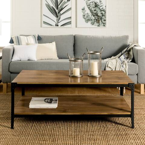 Carbon Loft Witten 46-inch Angle Iron Coffee Table - Barnwood