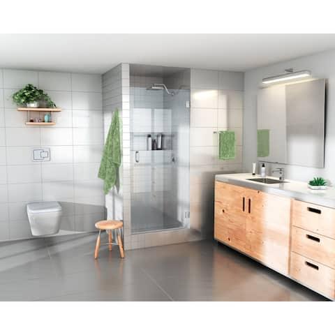 "Glass Warehouse 78"" x 24.625"" - 25"" Frameless Shower Door with Enduroshield Technology"