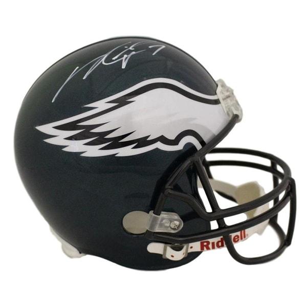 new concept e50cc b7377 Michael Vick Autographed Philadelphia Eagles Replica Helmet in white JSA