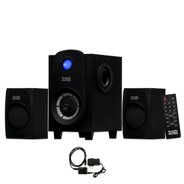 Acoustic Audio AA2107 Bluetooth Home 2.1 Speaker System with USB & Optical Input