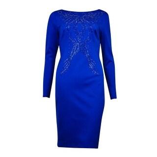 Thalia Sodi Women's Scoop-Back Studded Bodycon Dress