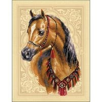 """11.75""""X15.75"""" 14 Count - Arabian Horse Counted Cross Stitch Kit"""