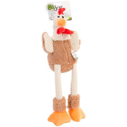 goDog Checkers with Chew Guard Large-Skinny Rooster
