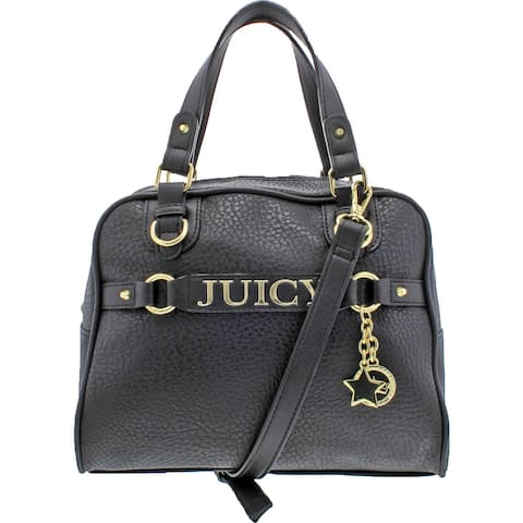 Juicy Couture Womens Sweet Surrender Dome Handbag Faux Leather Convertible - Medium