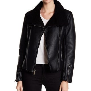 French Connection NEW Black Women's Size Small S Motorcycle Jacket