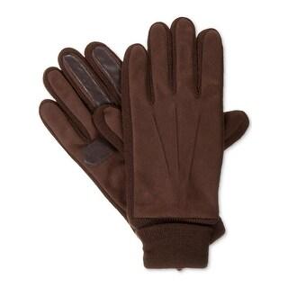 Isotoner Mens Winter Gloves Touch Smart Fleece Lined - M