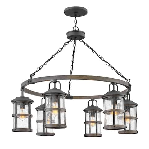 "Hinkley Lighting 2689 Lakehouse 6 Light 42"" Wide Open Air Outdoor"
