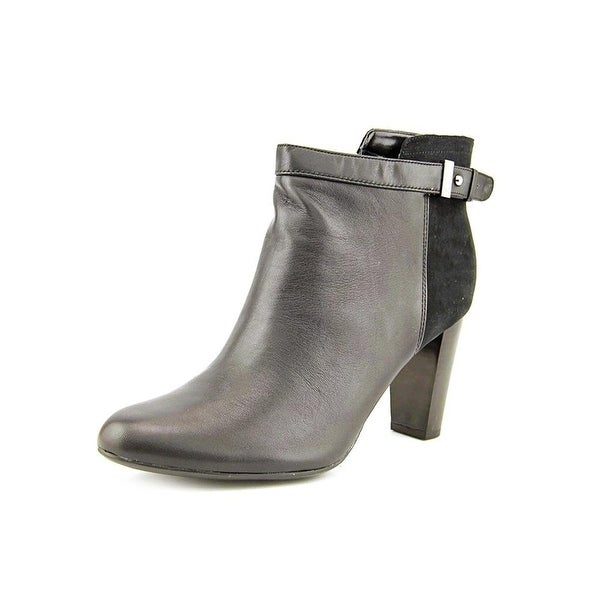 Alfani Womens Donelle Leather Closed Toe Ankle Fashion Boots