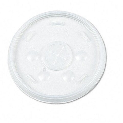 Plastic Lids- for 12-oz. Hot/Cold Foam Cups- Slip-Thru Lid- WE-