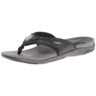 Propet Mens Harrison Leather Slide Thong Sandals - 8 extra wide (eee)