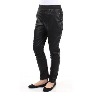 Womens Black Party Leggings Size 10