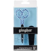 "Gingher Lauren Knife Edge Sewing Scissors 5""-W/Fitted Leather Sheath"