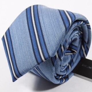 Black Brown NEW Blue Heaether Striped Woven Classic Men's Neck Tie Silk