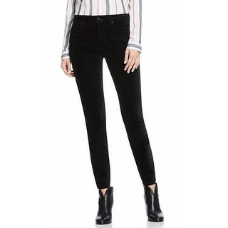 Vince Camuto NEW Rich Black Women's Size 0 Velvet Skinny Leg Pants
