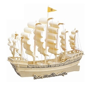 Collectors Ancient Style Sailboat in Ming Dynasty Wooden 3D Puzzle Toy