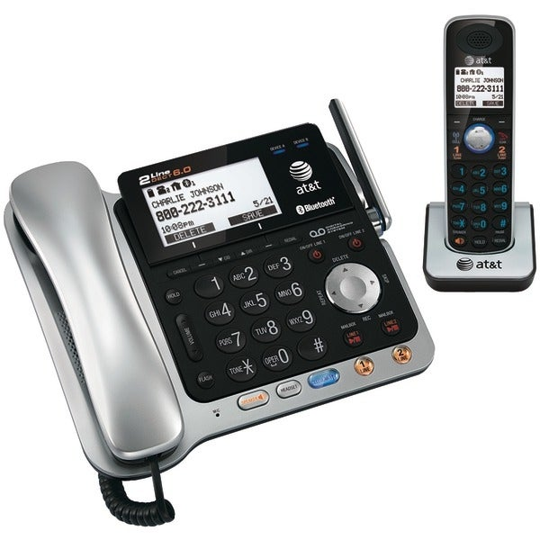 Att Tl86109 Dect 6.0 2-Line Connect-To-Cell(Tm) Corded/Cordless Bluetooth(R) Phone System (Corded Base System & Single Handset )
