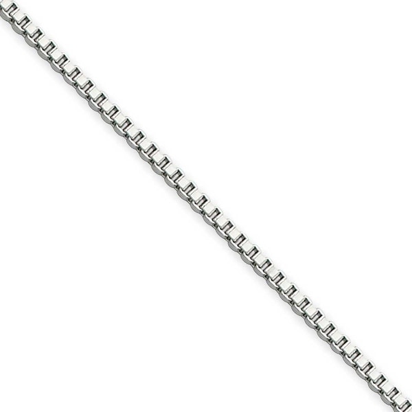 Chisel Stainless Steel 1.5mm 18 Inch Box Chain (1.5 mm) - 18 in