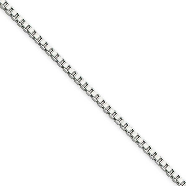 Chisel Stainless Steel 1.5mm 24 Inch Box Chain (1.5 mm) - 24 in