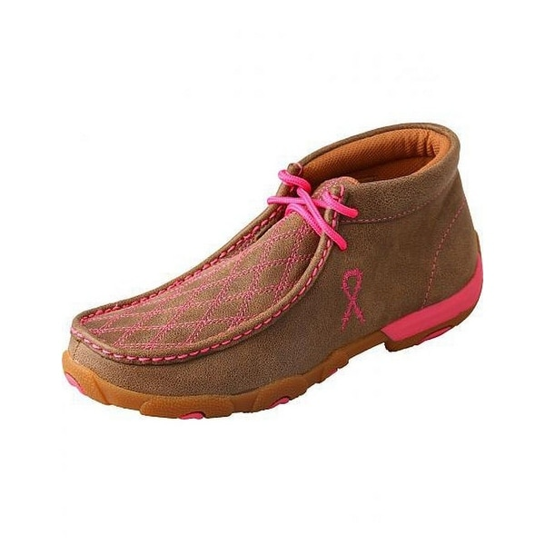 Twisted X Casual Shoes Womens Stitching Padded Bomber Pink