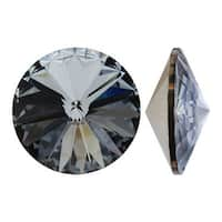 Swarovski Elements Crystal, 1122 Rivoli Fancy Stones 14mm, 2 Pieces, Crystal Silver Night F