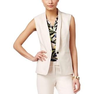 Anne Klein Womens Vest One-Button Casual