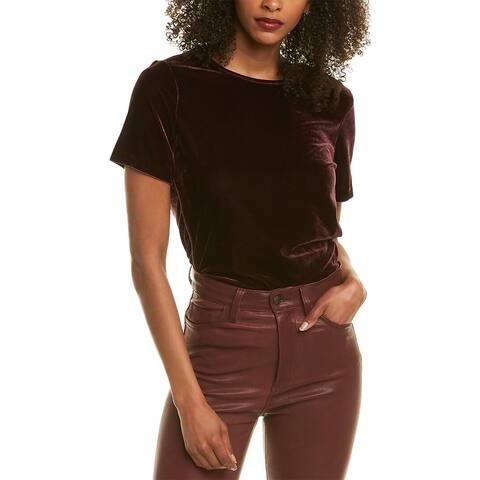 Donna Karan Velvet Seamed T-Shirt