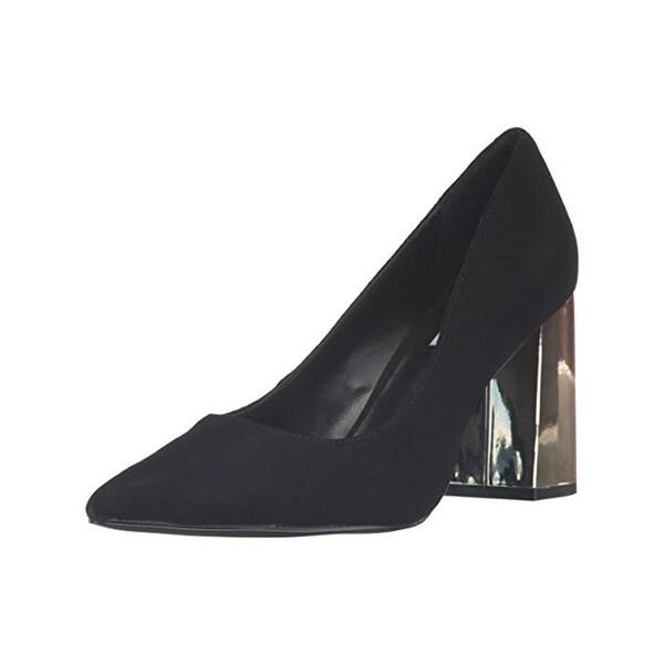 9da5ea8cf55 Shop Steve Madden Womens Pointur Block Heels Pointed Toe Reflective ...