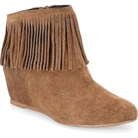 Comfortiva Riverton Round Toe Suede Ankle Boot