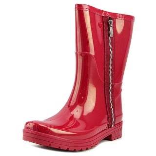 Unlisted Kenneth Cole Rain Zip Women  Round Toe Synthetic Red Rain Boot
