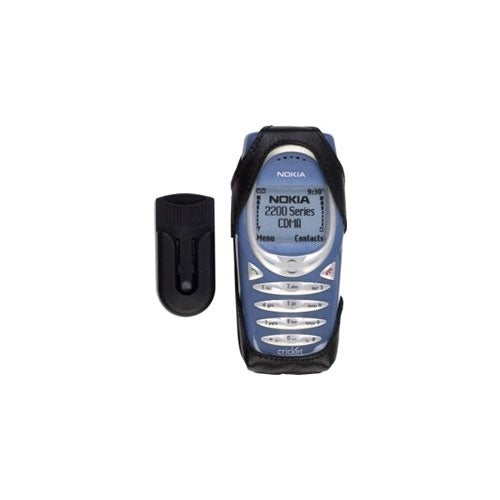 Nokia Leather Case w/ Belt Clip for Nokia 2220/2260/2270 Cellular Phones - Black