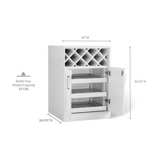 """NewAge Products Home Bar Series 24"""" Bottle Cabinet"""
