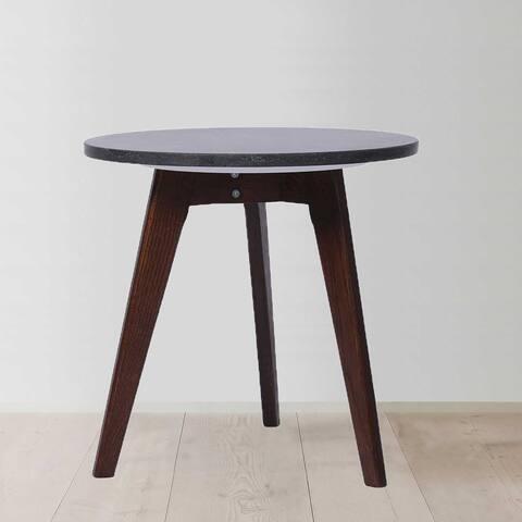 Carson Carrington Kaglenas 15-inch Round Italian Black Marble Table
