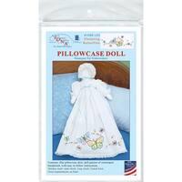 Fluttering Butterflies - Stamped White Pillowcase Doll Kit