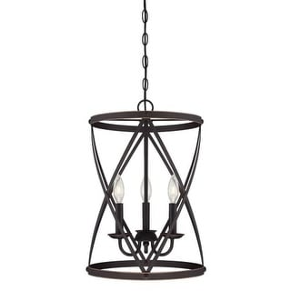 """Westinghouse 6303700 Isadora 3 Light 13"""" Wide Single Tier Caged Candle Style Cha"""
